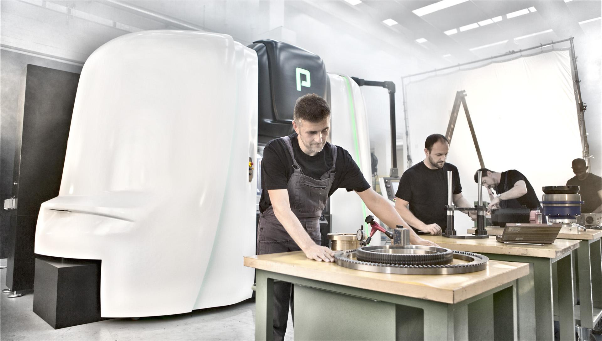 Väčšina strojárenských dielov je vyrábaná v halách Porta Solutions pre dosiahnutie najvyššej kvality a rýchleho termínu dodávky